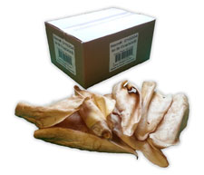 50pk X-Tra Large Cow Ears with BBQ Flavor