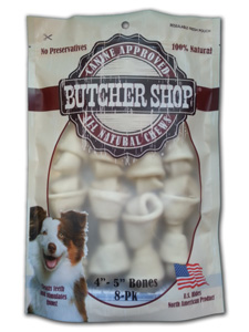 Butcher Shop 4 - 5 in Rawhide Bones 8pk