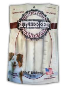 Butcher Shop 8 - 9 in Rawhide Retrievers 4pk