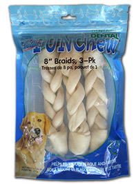 Dental Rawhide Braided Sticks